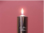 Pillar candle engraved